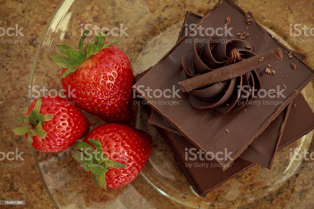 Chocolate and Strawberries royalty-free stock photo