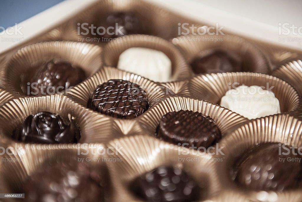 Chocolate assortment stock photo