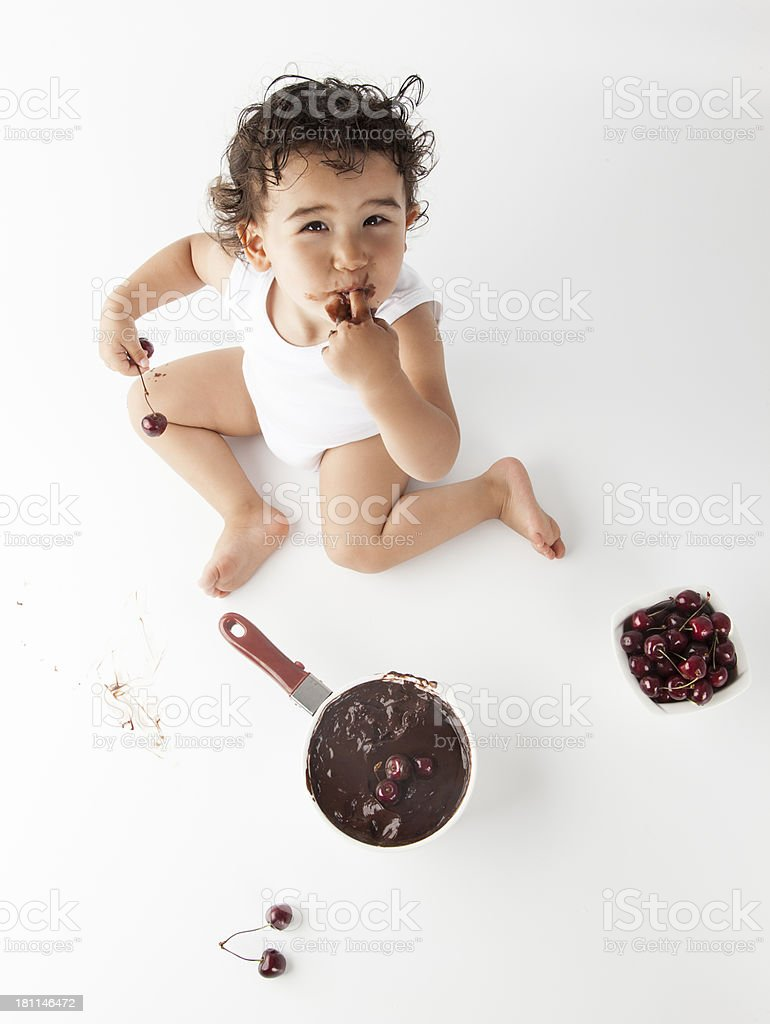 Chocolate Baby royalty-free stock photo