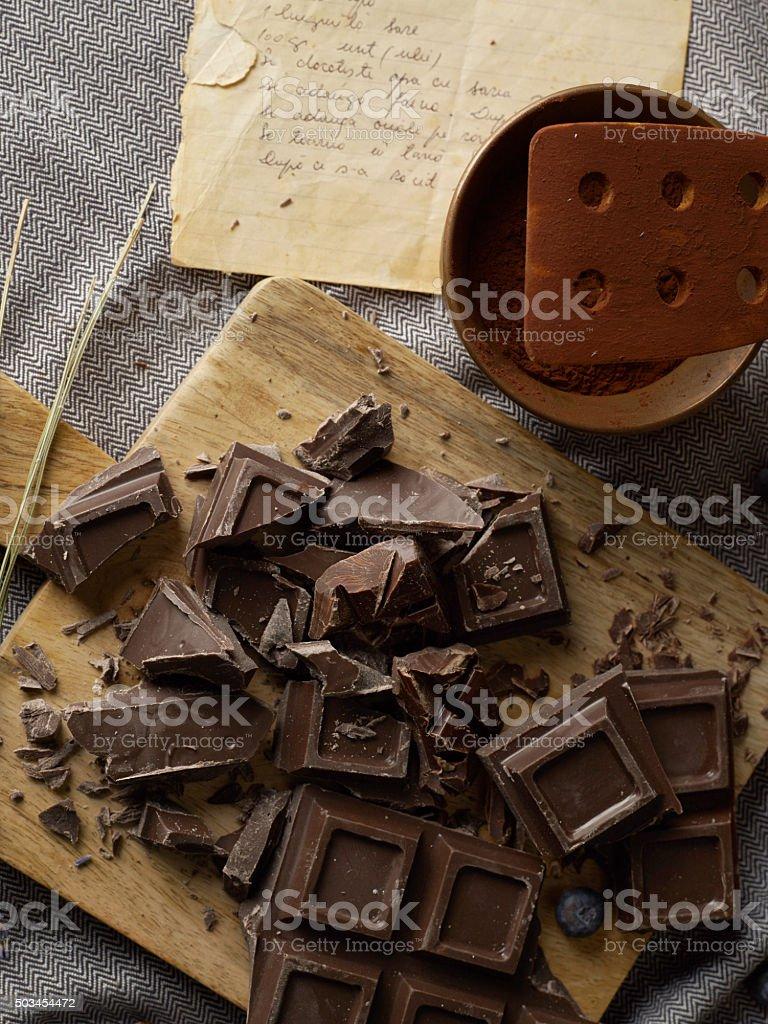 Chocolate baking stock photo