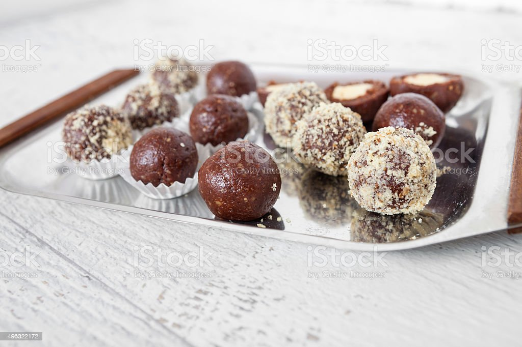 Chocolate ball stock photo