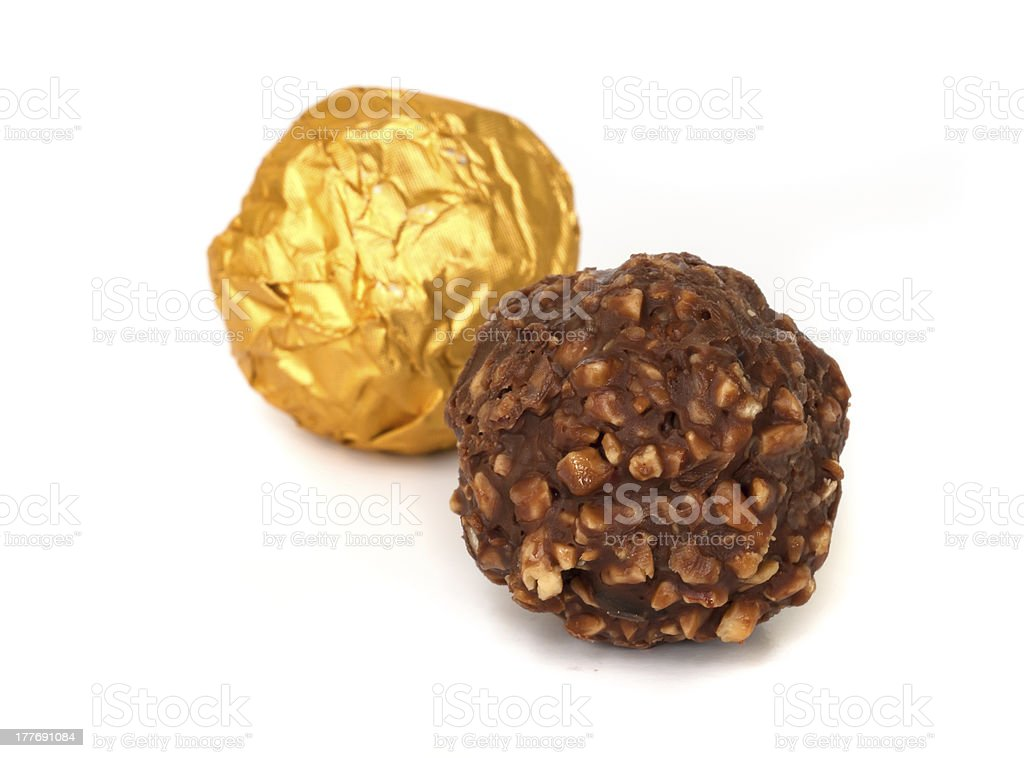 Chocolate balls. royalty-free stock photo