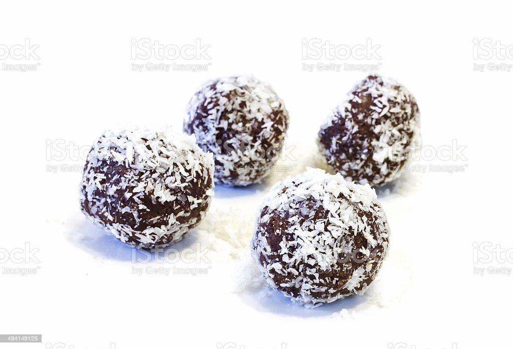 Chocolate balls  . stock photo