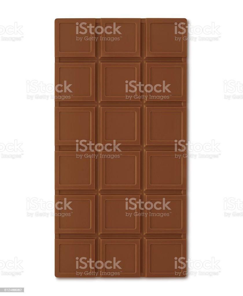 Chocolate Bar (with path) stock photo