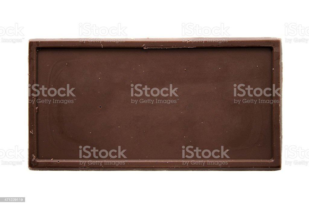 Chocolate bar top view stock photo