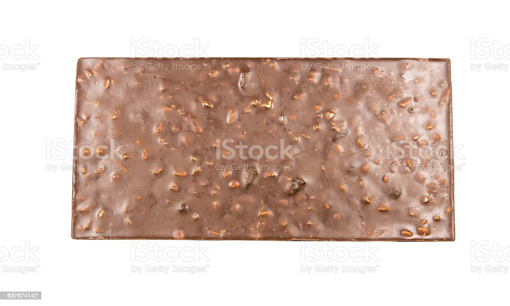 chocolate bar with nuts. stock photo