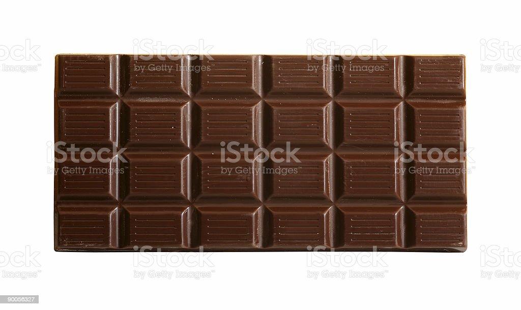 Chocolate bar with path stock photo