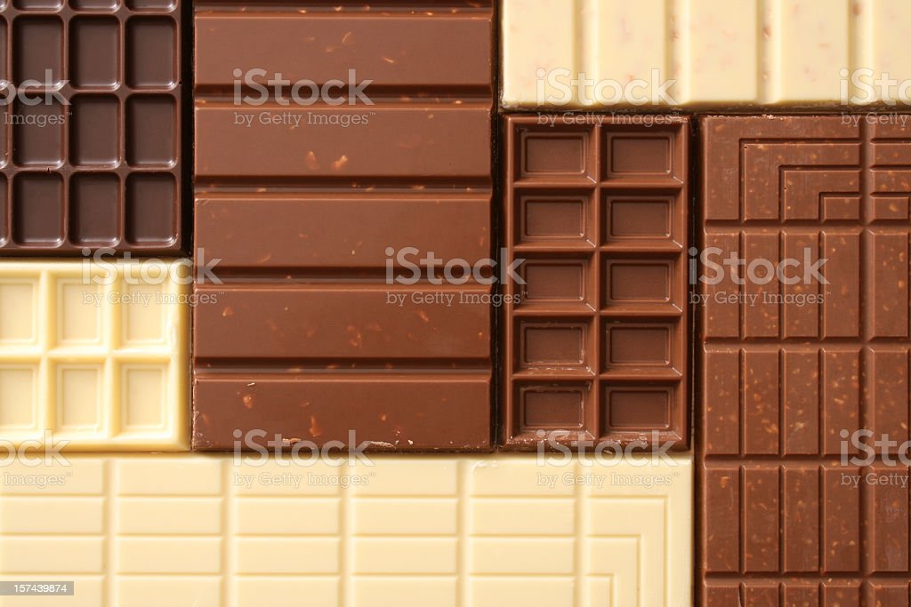Chocolate bars royalty-free stock photo