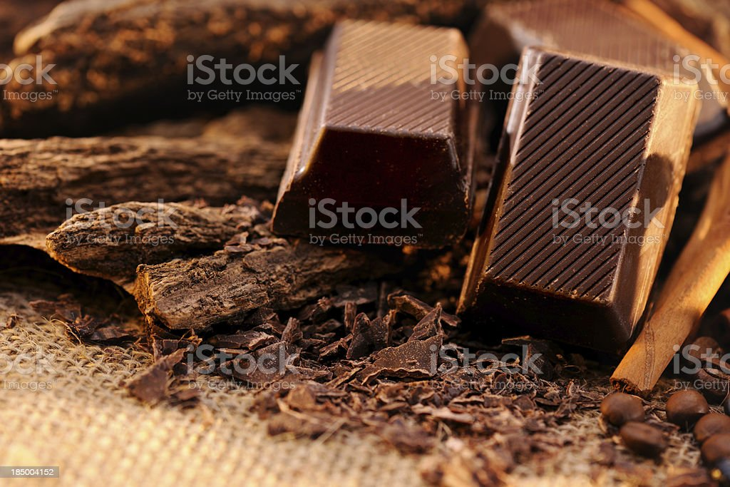 Chocolate Bars stock photo