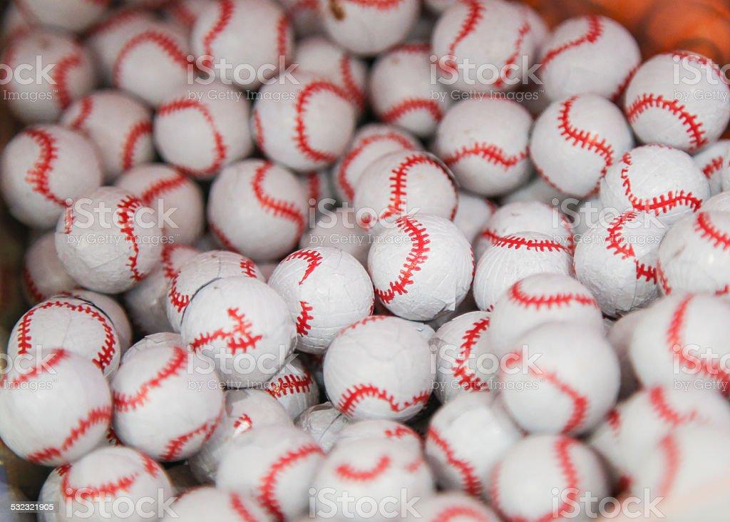 Chocolate Baseball stock photo
