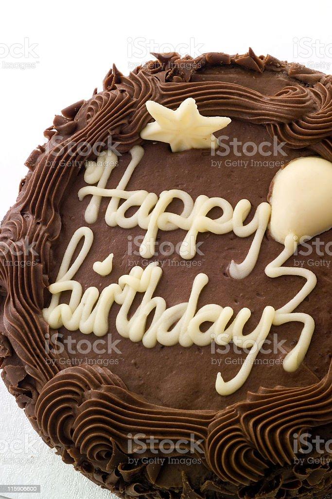 Chocolate Birthday Cake royalty-free stock photo