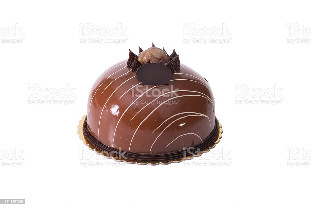 Chocolate Birthday cake (XXXL) royalty-free stock photo