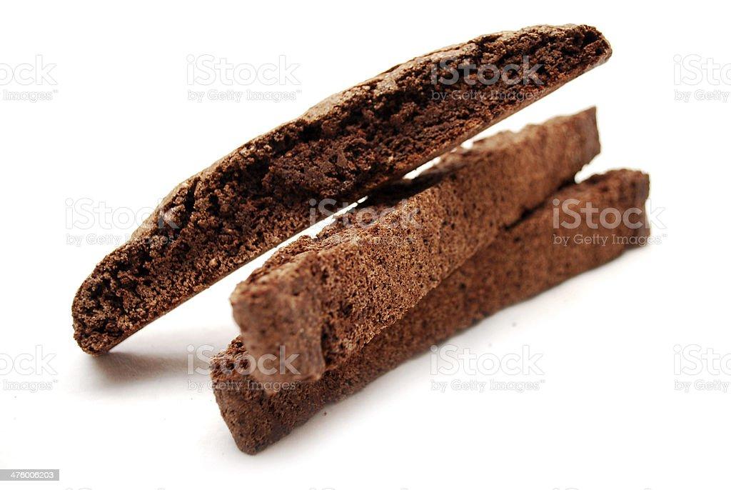 Chocolate Biscotti stock photo