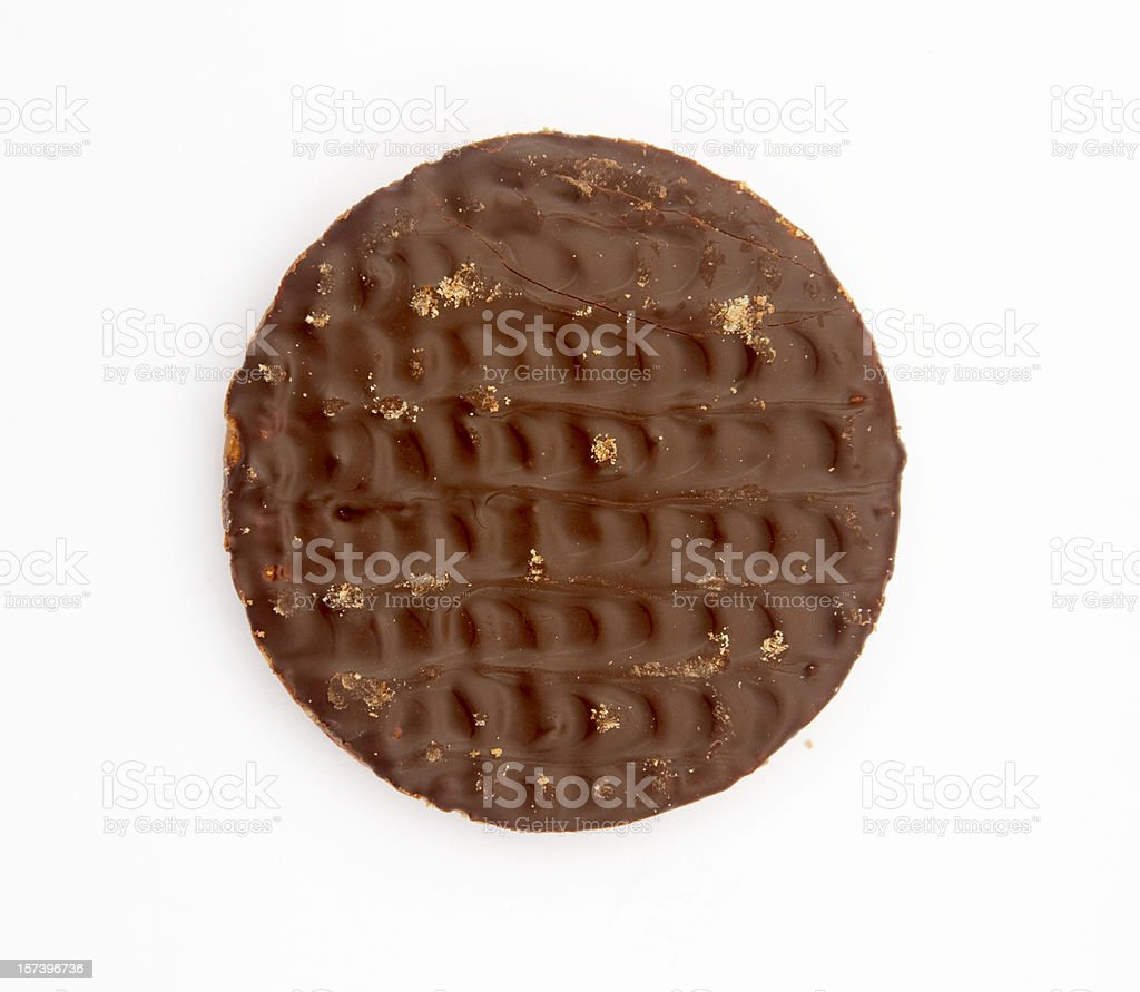 Chocolate biscuit stock photo