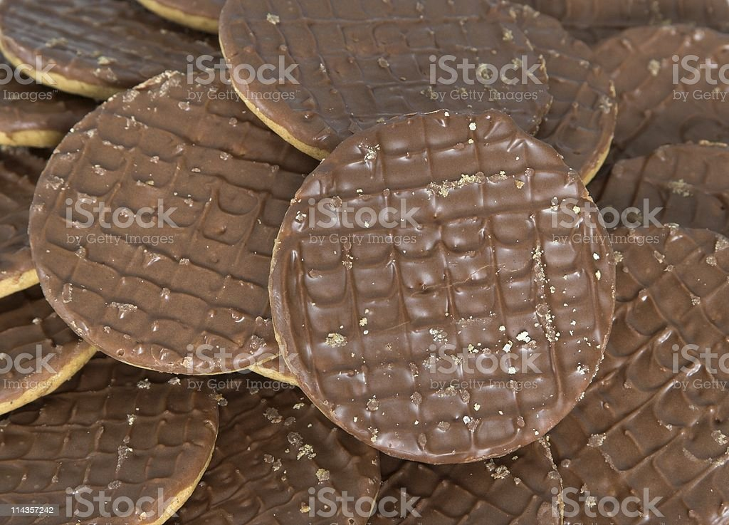 Chocolate Biscuits stock photo