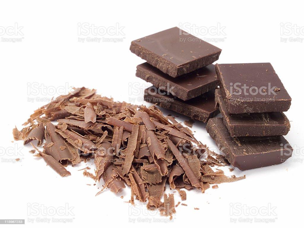 Chocolate blocks royalty-free stock photo