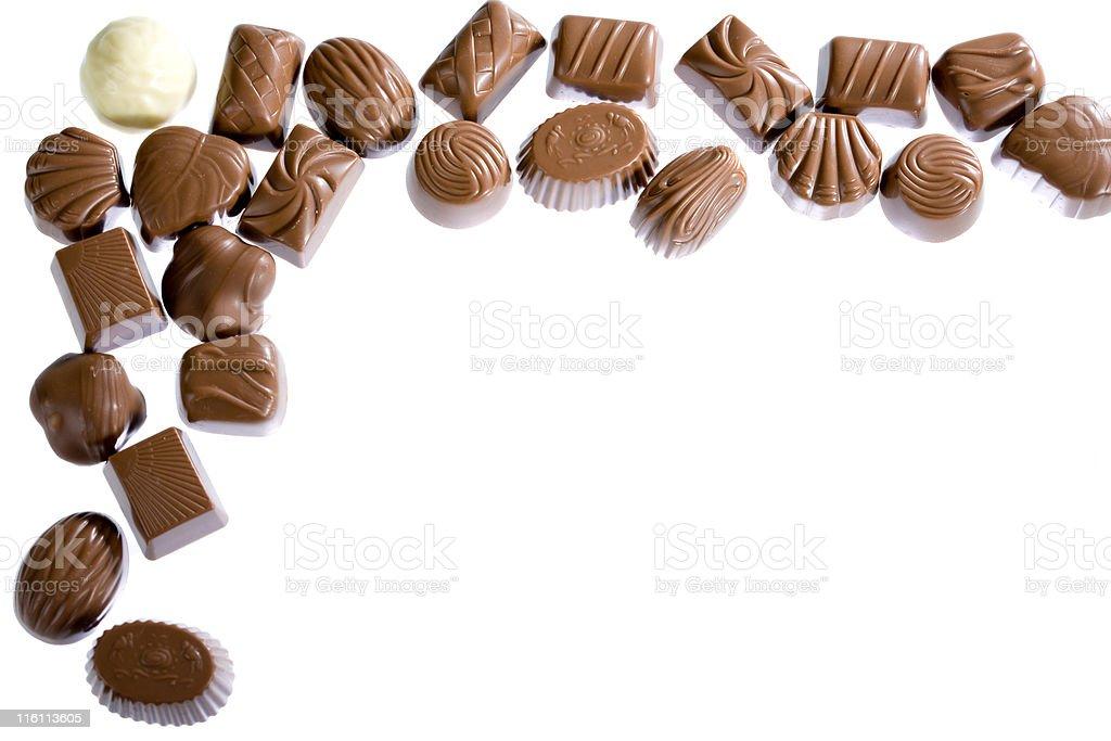 Chocolate border stock photo