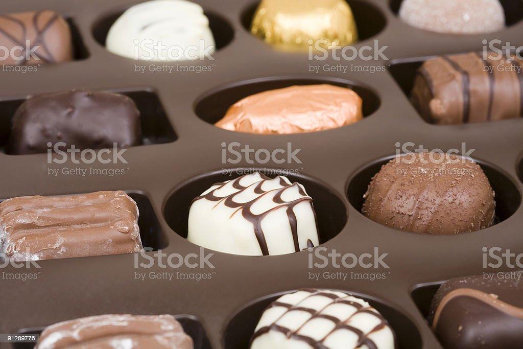 Chocolate box royalty-free stock photo