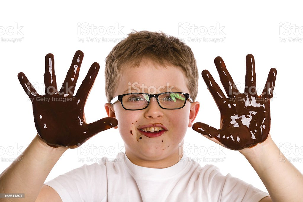 chocolate boy royalty-free stock photo
