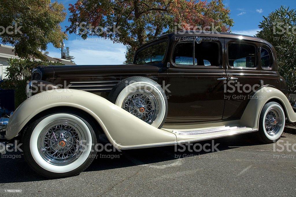 Marrone cioccolato auto classiche foto stock royalty-free