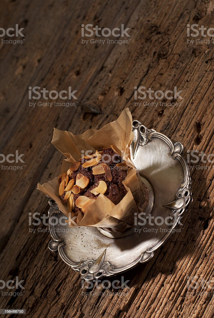 chocolate brown muffin royalty-free stock photo