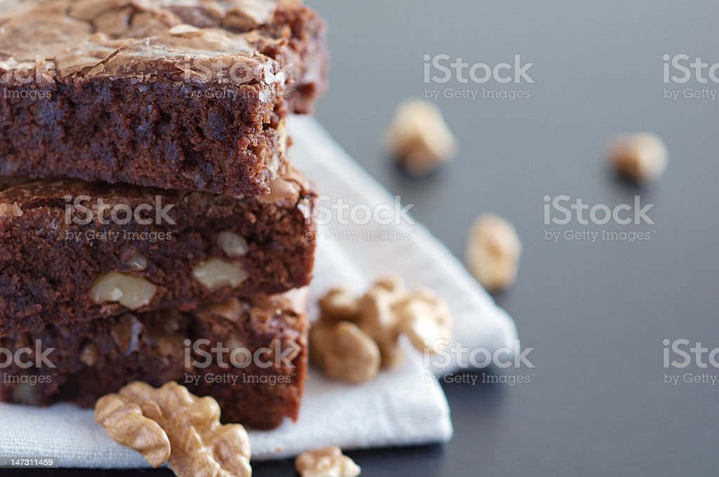 Chocolate brownie stock photo