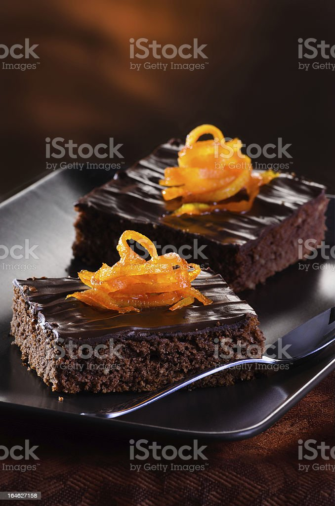 Chocolate Brownie royalty-free stock photo