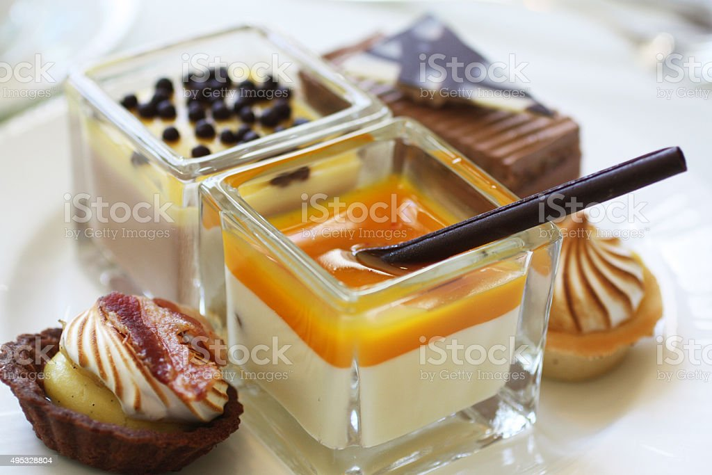 chocolate buffet stock photo