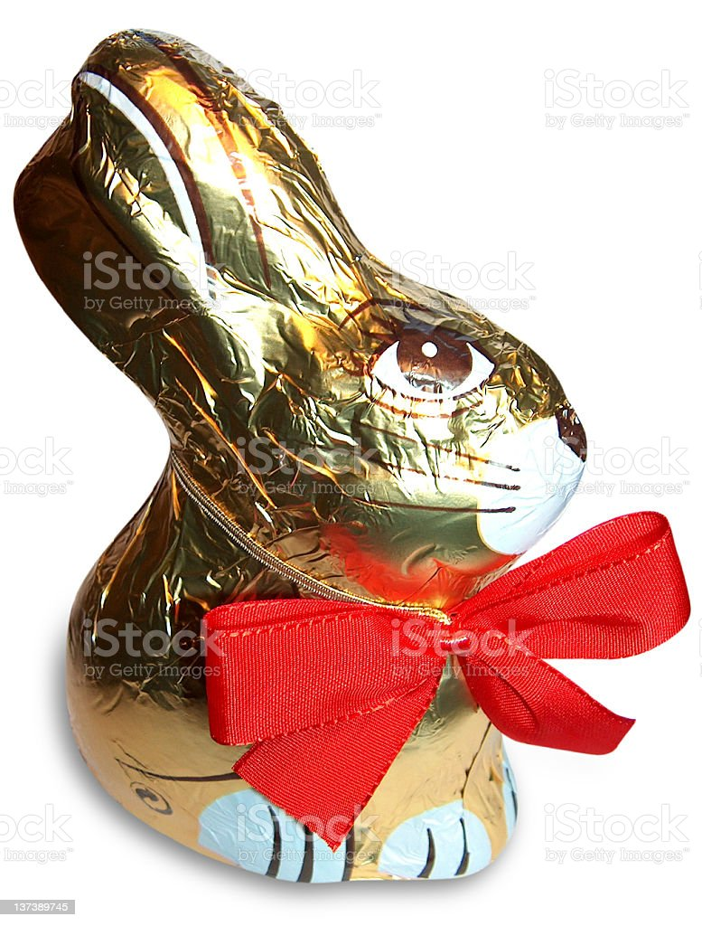 Chocolate bunny royalty-free stock photo