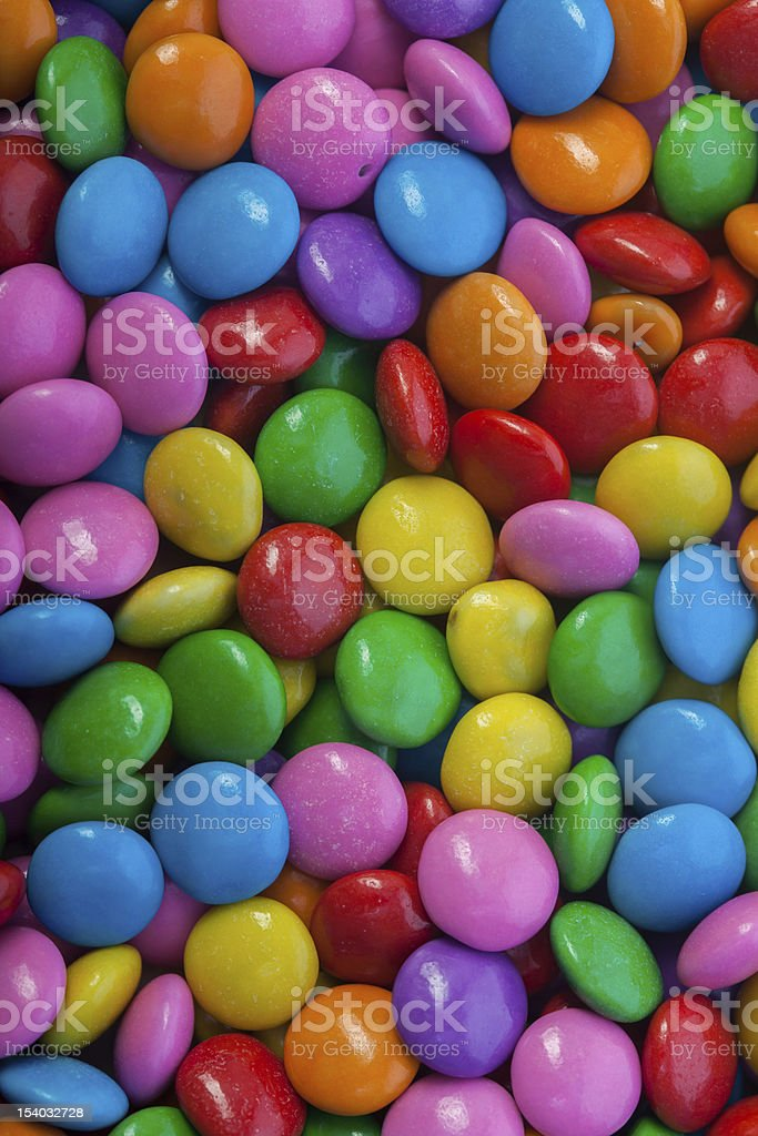 Chocolate Buttons Close-up royalty-free stock photo