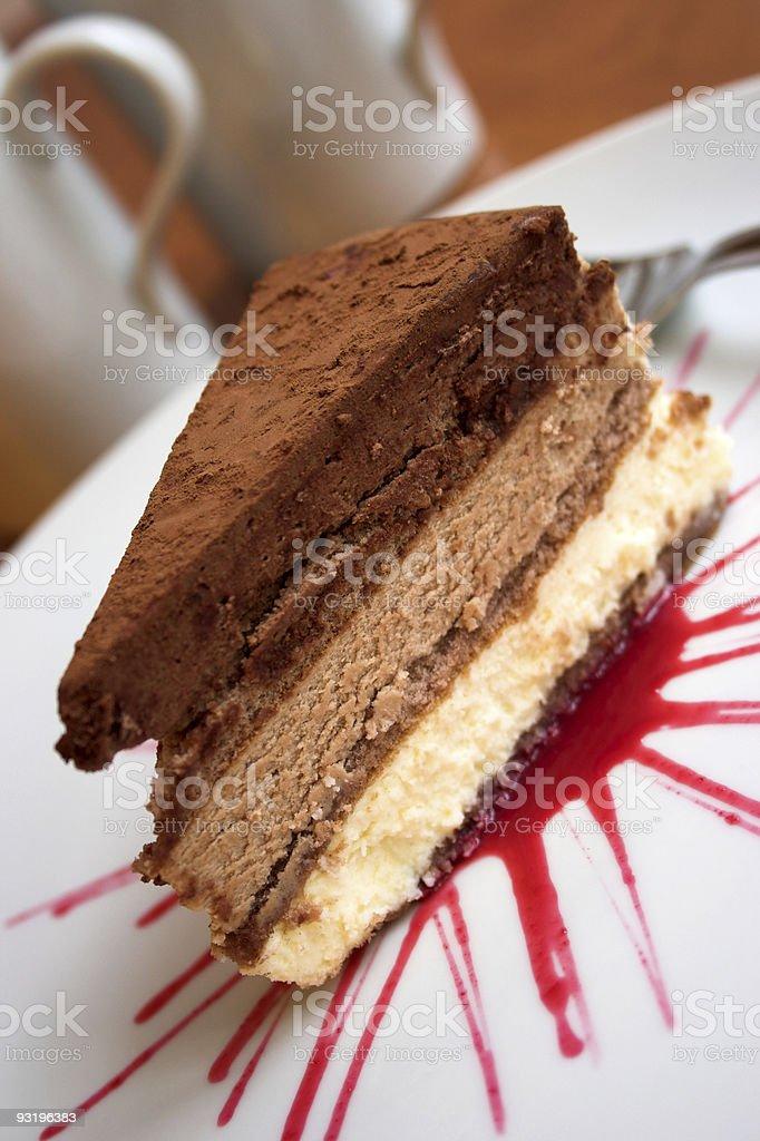 Chocolate cake anyone..? stock photo