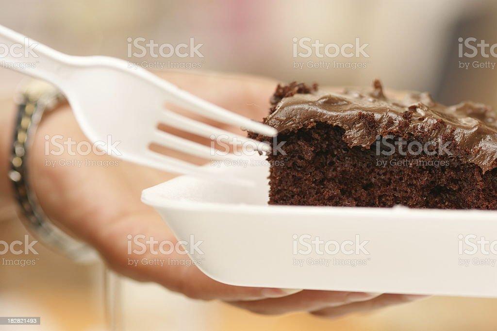 Chocolate Cake Close-Up stock photo