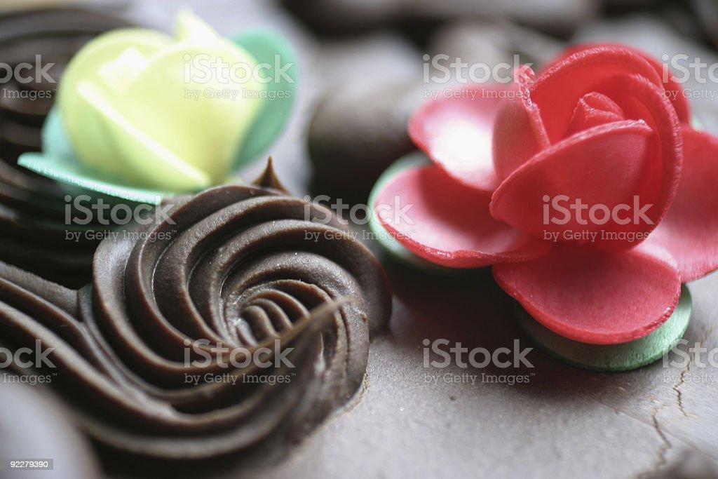 Chocolate cake decoration royalty-free stock photo