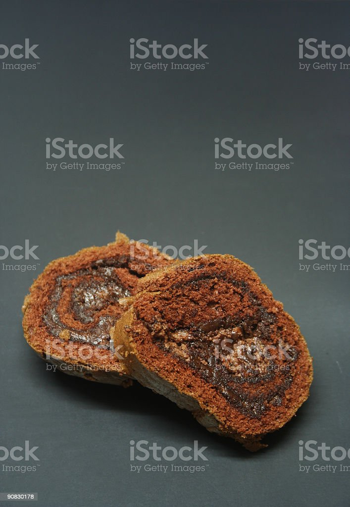 Chocolate Cake Isolated against a black background - Yummy !!! royalty-free stock photo