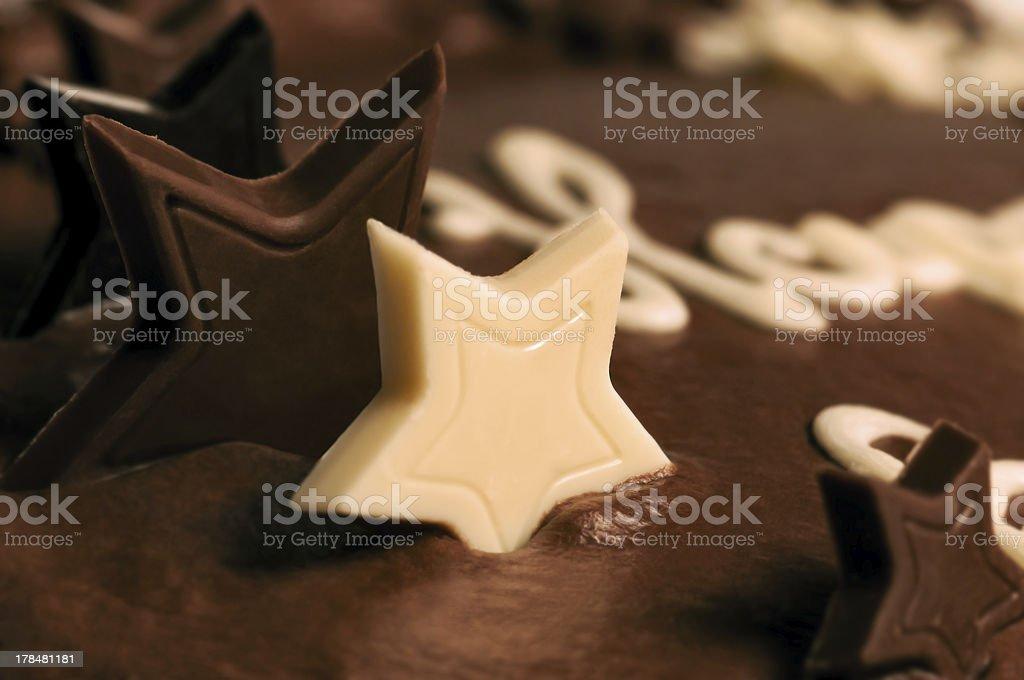 Chocolate cake - Macro close-up royalty-free stock photo