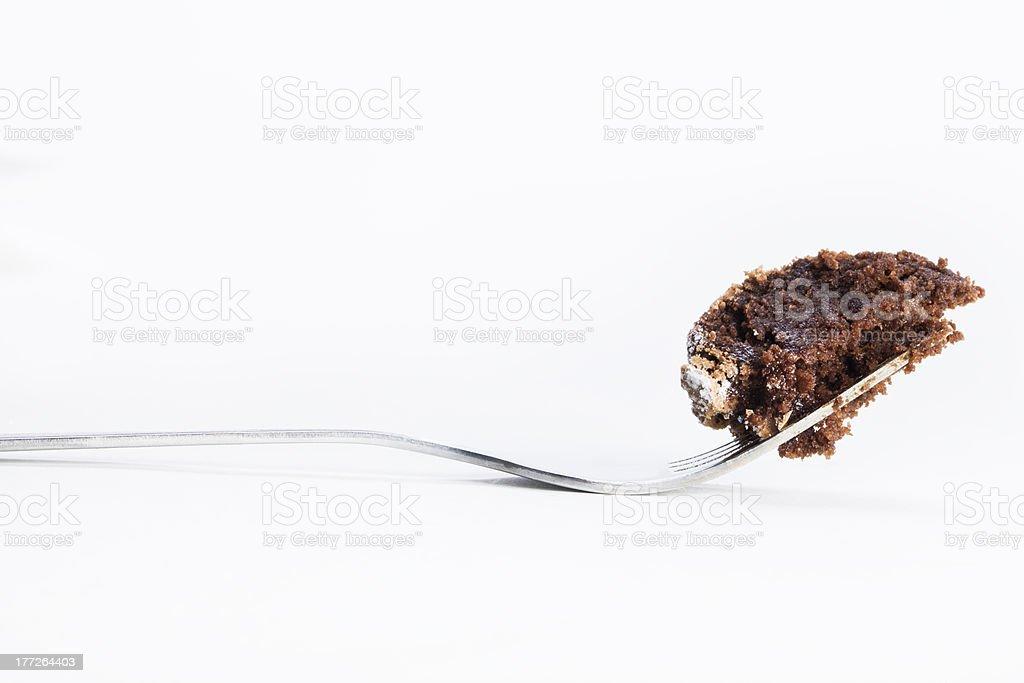 Chocolate Cake on Fork stock photo