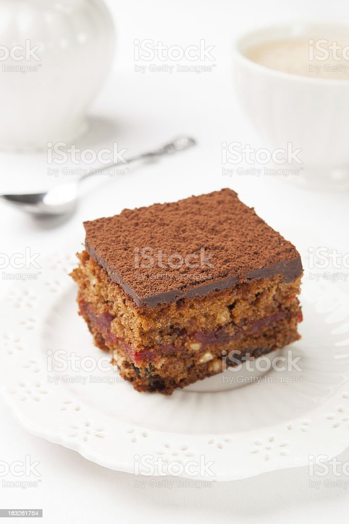 Bolo de chocolate foto royalty-free
