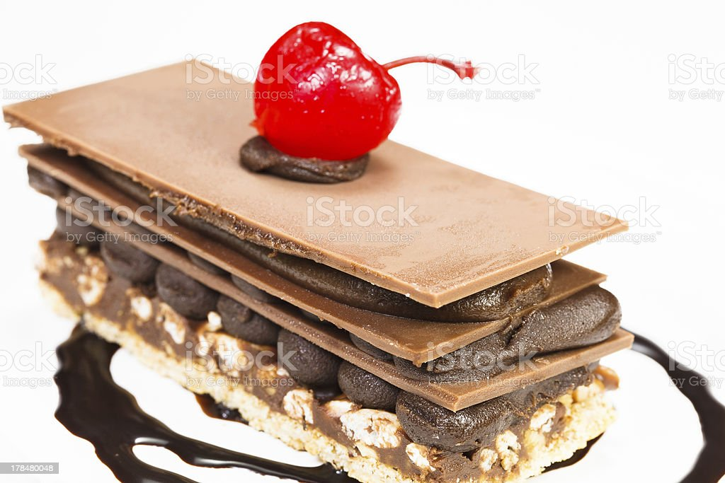 Chocolate cake royalty-free stock photo
