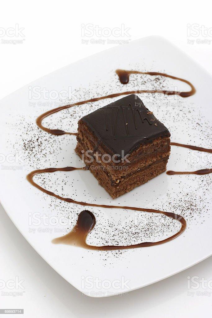 chocolate cake royalty-free stock photo