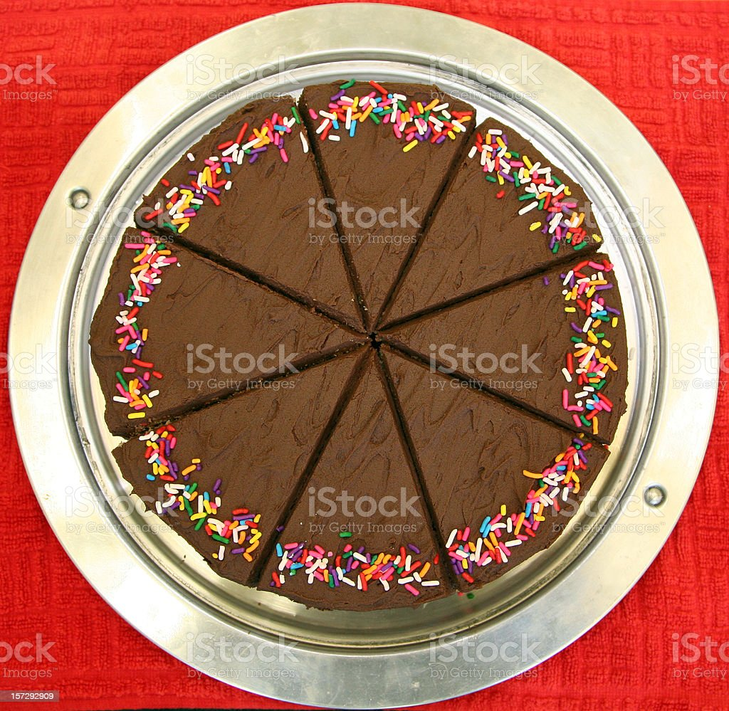 Chocolate Cake Slices royalty-free stock photo