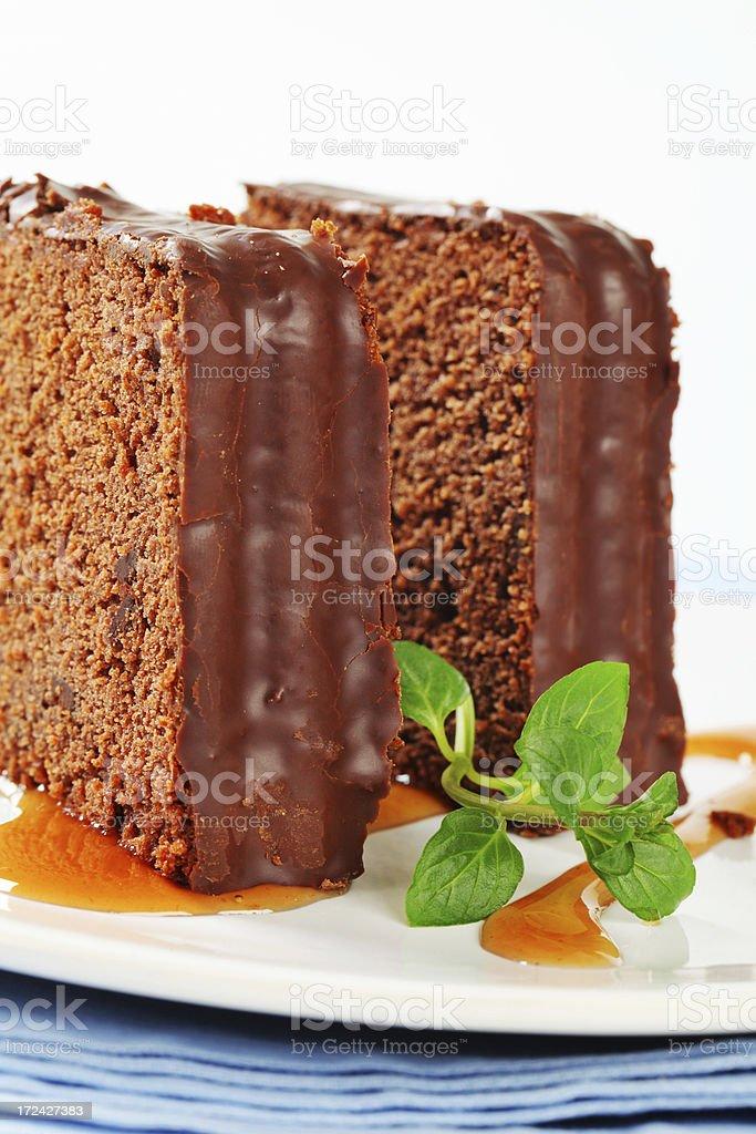 chocolate cake slices royalty-free stock photo