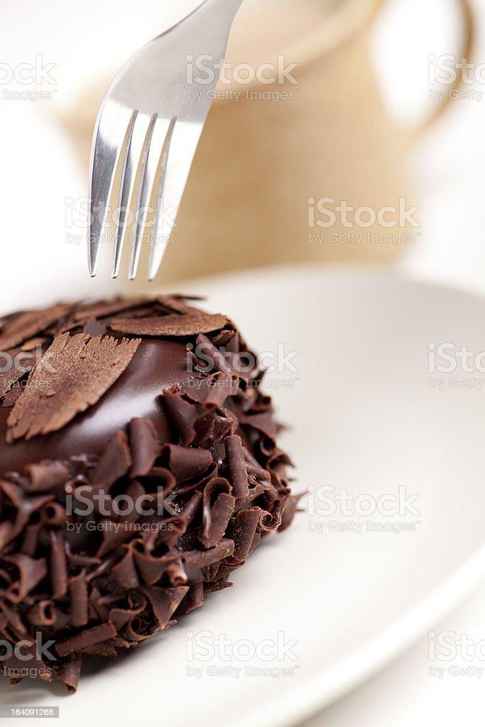 Chocolate cake with coffee royalty-free stock photo