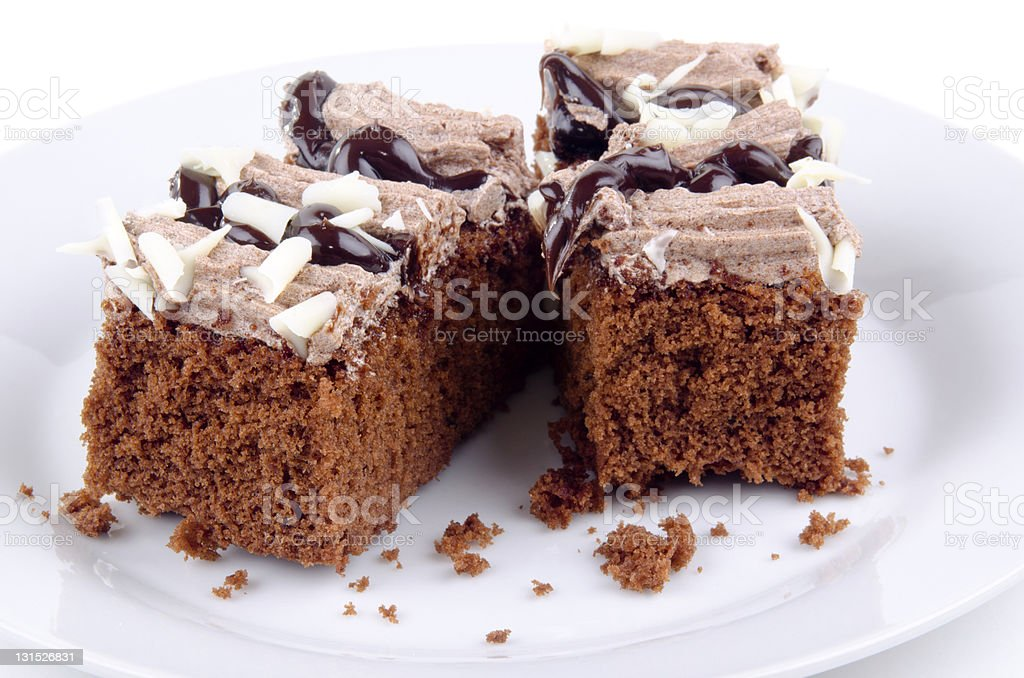 chocolate cake with dessert flavor coffee sauce royalty-free stock photo