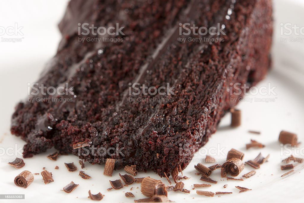 Chocolate Cake with Ganache Frosting stock photo