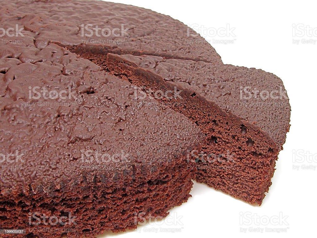 Chocolate cake-pieces royalty-free stock photo