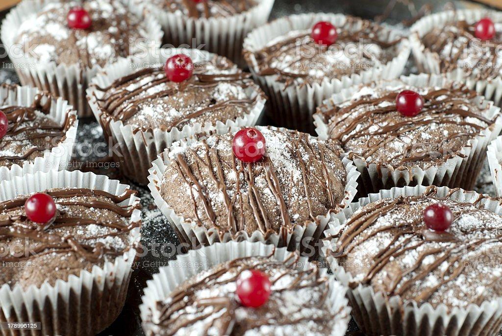 chocolate cakes royalty-free stock photo