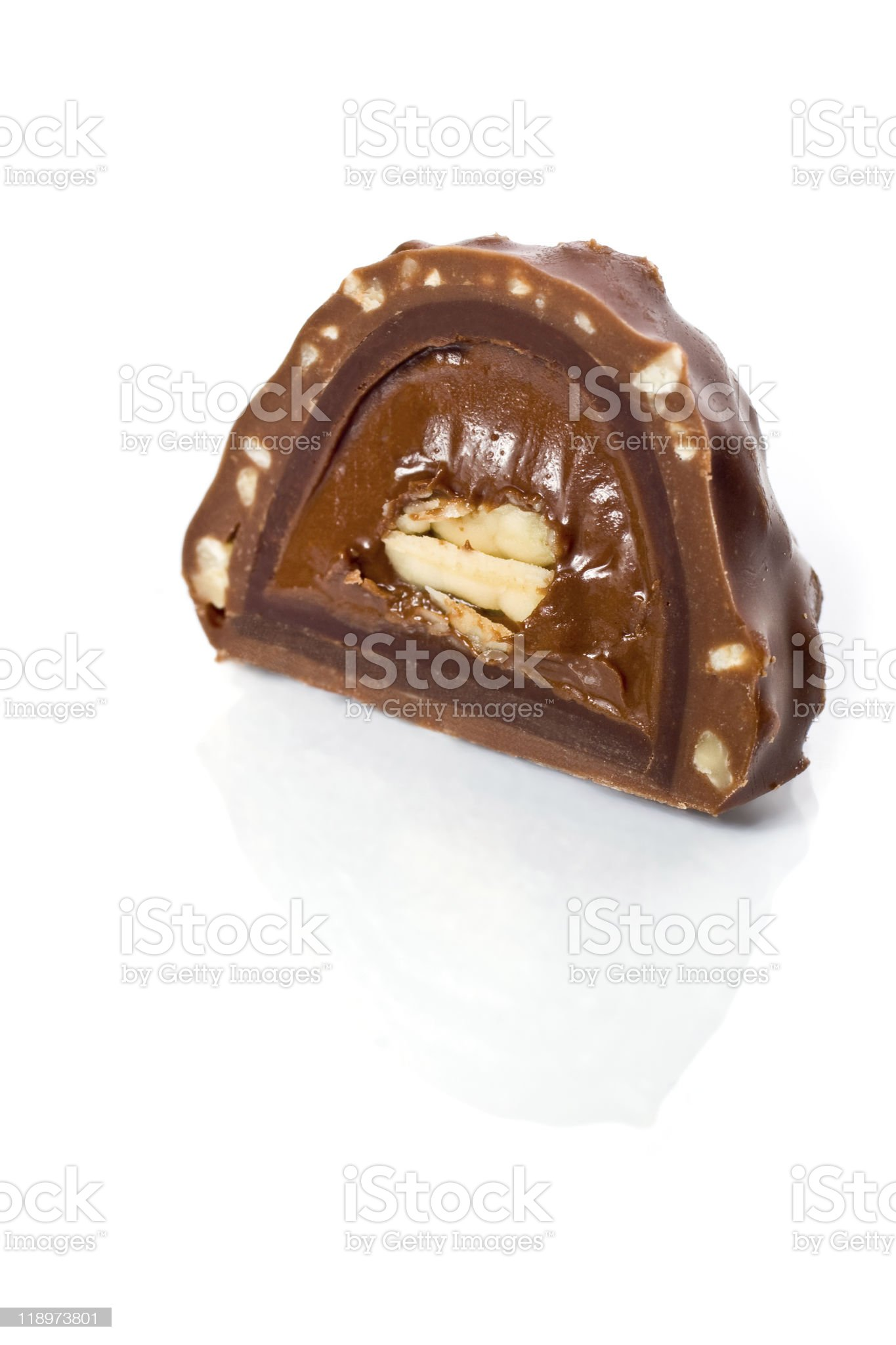 Chocolate candy isolated royalty-free stock photo