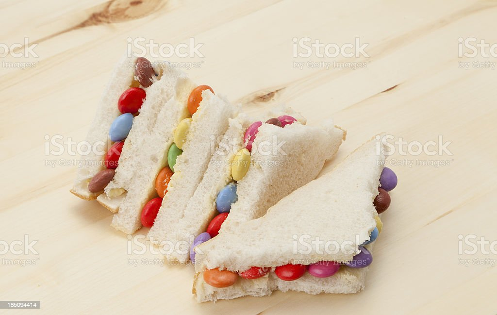 Chocolate candy sandwich royalty-free stock photo