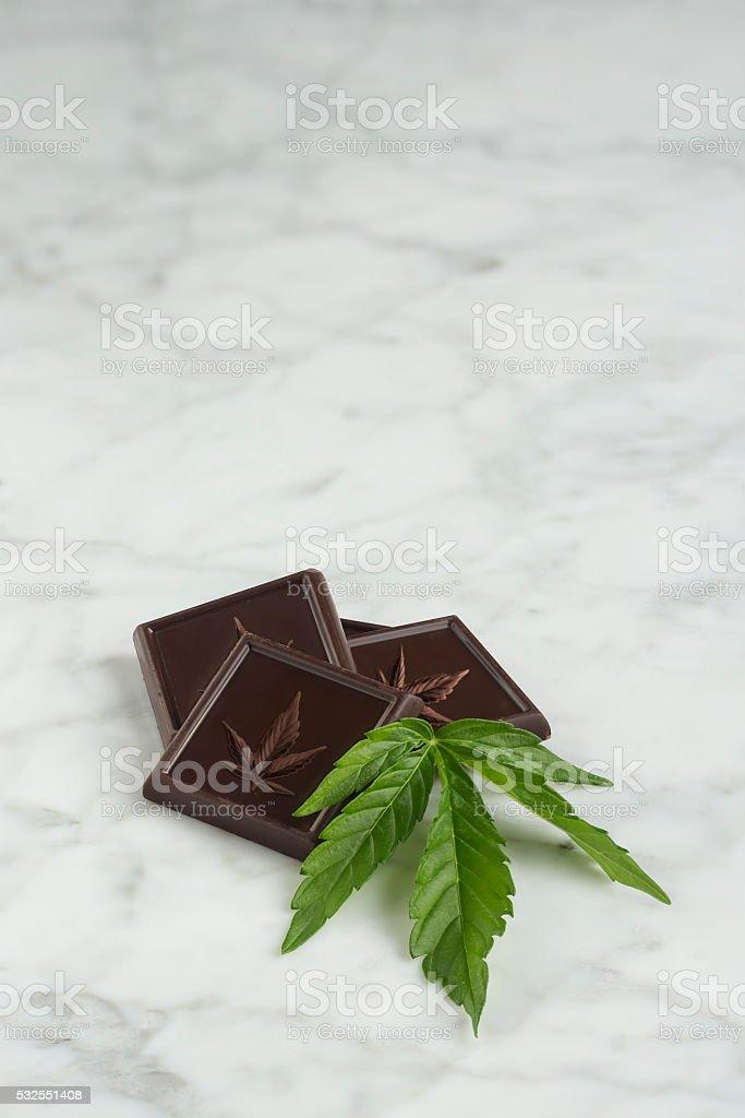 Chocolate Cannabis stock photo
