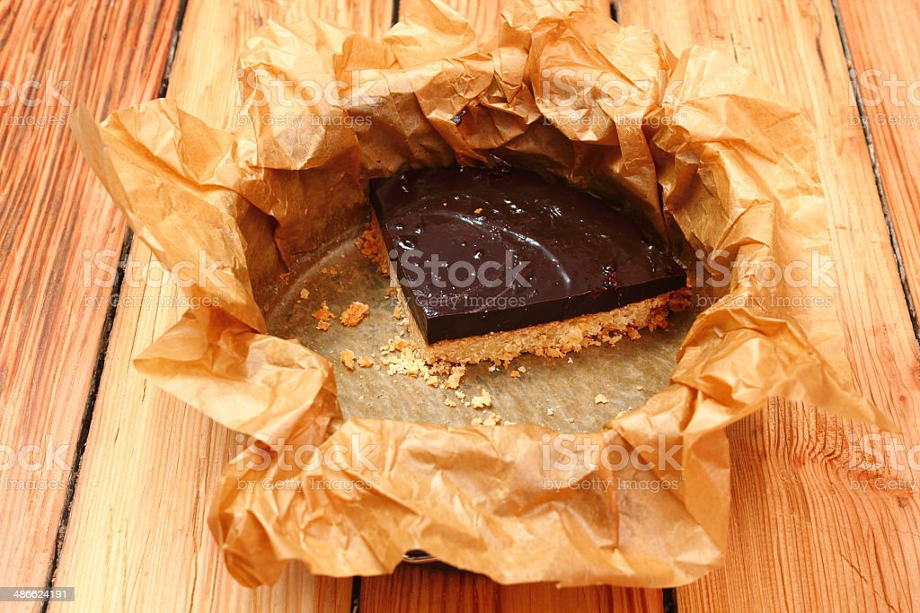 Chocolate Caramel and Shortcrust Pastry stock photo